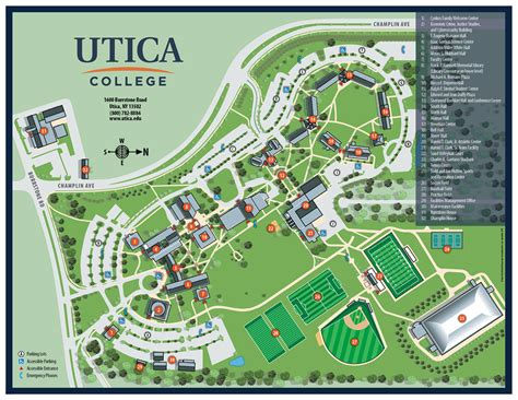 Floor Plan Programs by Campus Map Utica College