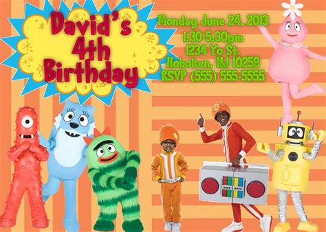 dj yo gabba gabba yo gabba gabba birthday invitations kustom kreations