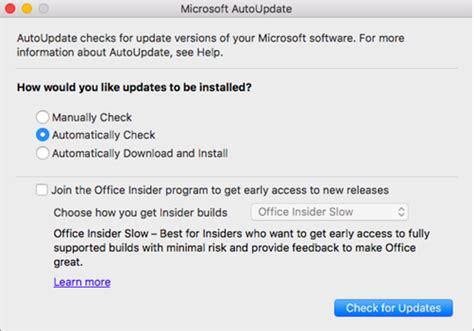 Office Untuk Mac memeriksa pembaruan office untuk mac secara otomatis