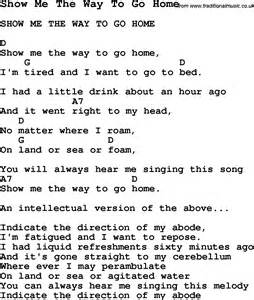 show me home summer c song show me the way to go home with lyrics