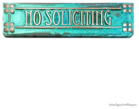 no soliciting sign for house craftsman mini no soliciting sign 8 quot x2 quot in bronze verdi craftsman house numbers
