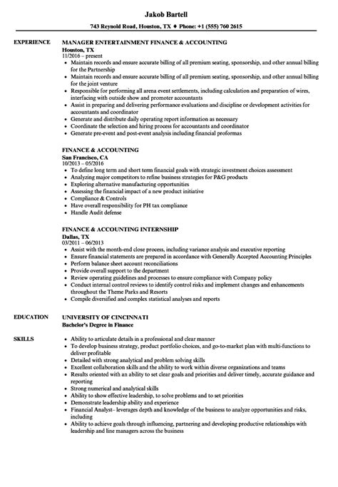 accounting resume examples resume and cover letter resume and