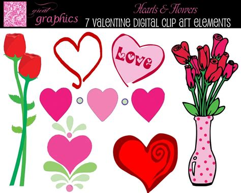 free printable valentine flowers flower valentine cliparts free download clip art free