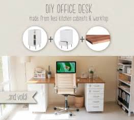 diy ikea desk diy office desk made from ikea kitchen components ikea