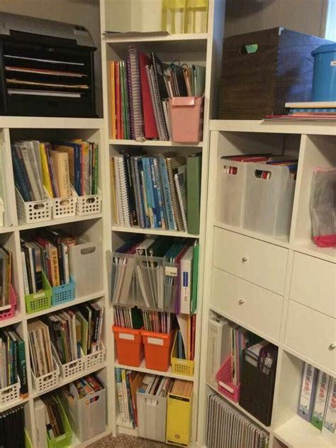 corner unit bookcase homeschool room organization