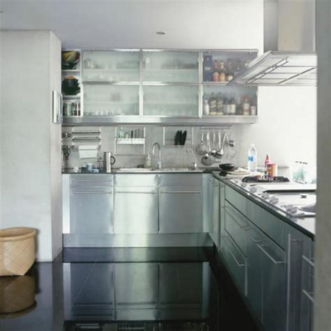 Stainless Steel Kitchen Ideas Stainless Steel Modern Kitchen Kitchen Designs Worktop Housetohome Co Uk