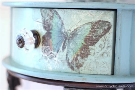 decoupage paint butterflies chalk paint a decoupage artsy
