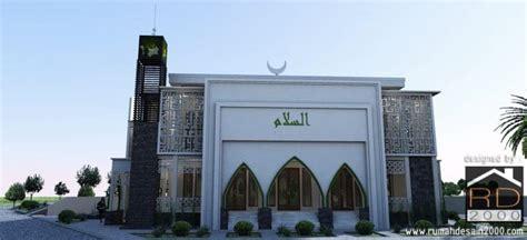 design masjid minimalis desain masjid modern berlokasi di kabupaten oku timur