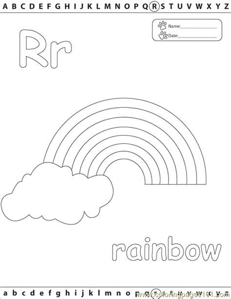 R Is For Rainbow Coloring Page by Free Coloring Pages Of R Is For Rainbow