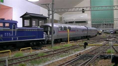 Japanese Sleeper by The Sleeper Cassiopeia In Realistic Ho Railroad Layout Of Japan