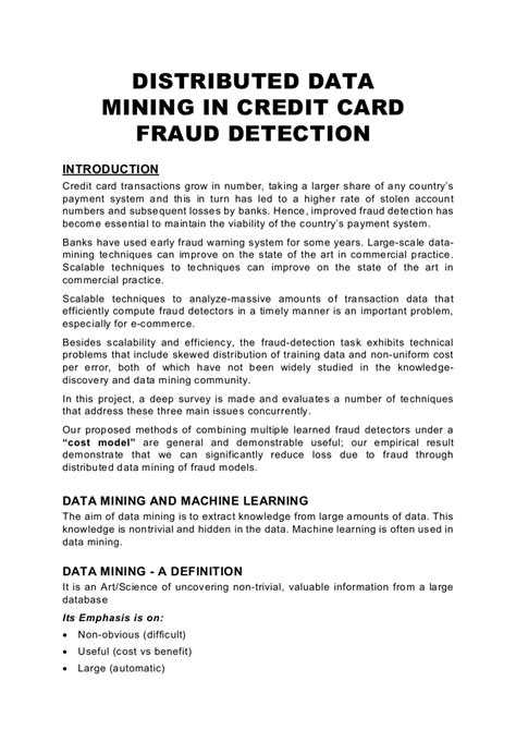 Java Abs Distributed Data Mining In Credit Card Fraud