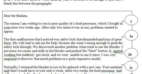tips writing task letter complaint job