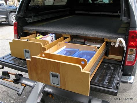 project truck drawers sleeping platform