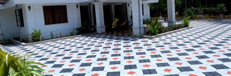 Kerala Home Design Tiles Outdoor Paving In Kerala Studio Design Gallery