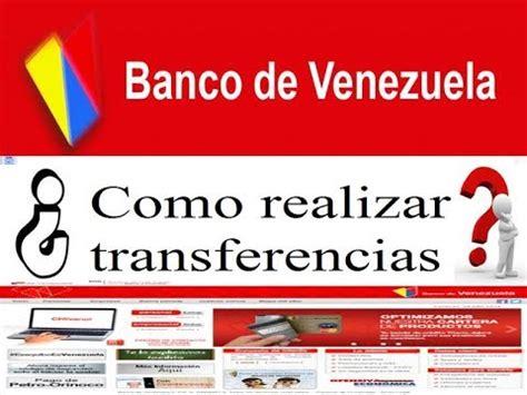 banco de venezuela youtube banco de venezuela como realizar transferencia a terceros