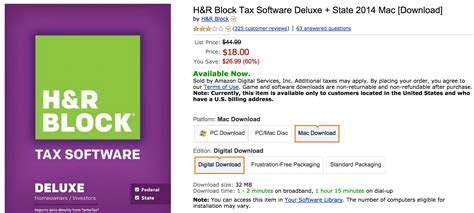 Slackers: Download H&R Block Deluxe 2015 Federal and State ... H And R Block 2015 Tax Software Deals