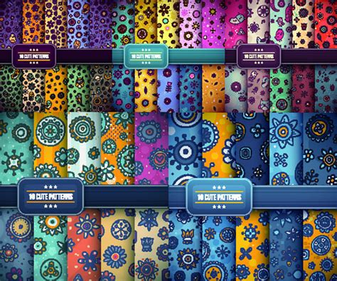 cute pattern set vector pattern for free download about 10 346 vector