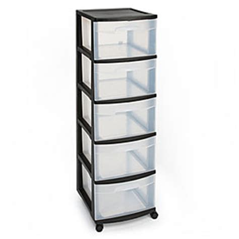 Storage Carts With Drawers And Wheels by View Sterilite 174 5 Drawer Plastic Storage Carts Deals At