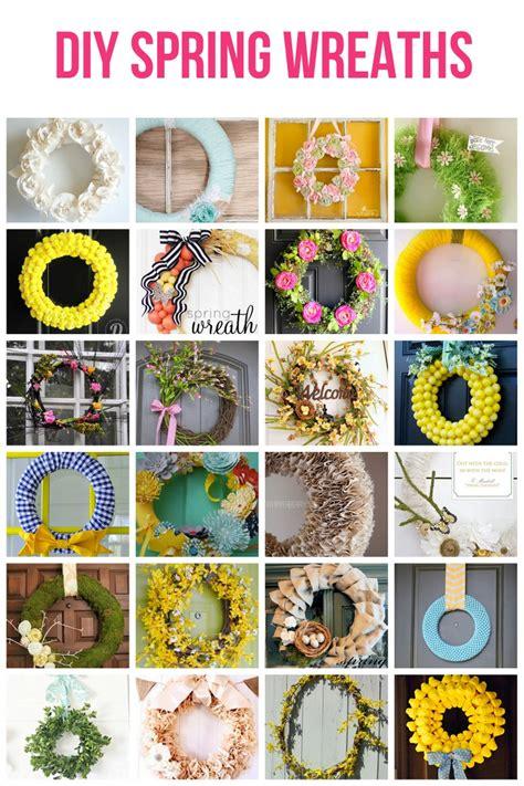 spring diys diy spring wreath ideas