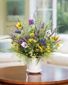 silk flower centerpieces pansy wildflower silk flower centerpiece at petals
