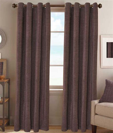 brown door curtain desirica single door eyelet curtain solid brown buy