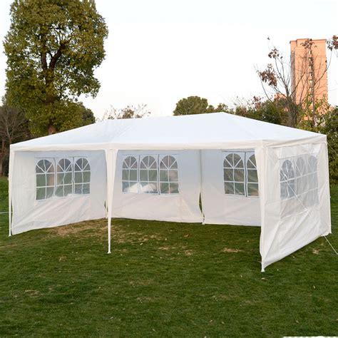 gazebo tent 10 x 20 white tent canopy gazebo w 4 sidewalls