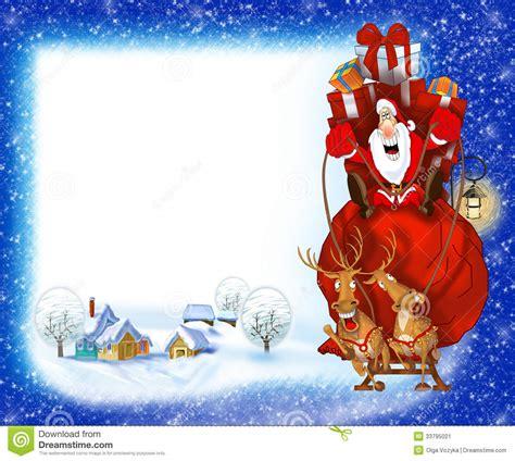imagenes santa claus navidad fondo de la navidad con santa claus stock de ilustraci 243 n