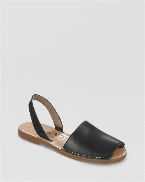 espadrille flat shoes sam edelman peep toe flat espadrille sandals bray in black