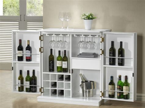kleine hausbar meuble de bar gordon h 233 v 233 a mdf weng 233 ou blanc