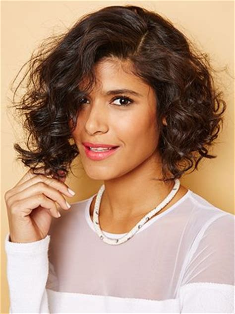 how do you cut a short curly bob with middle part short haircuts curly hair styling tips