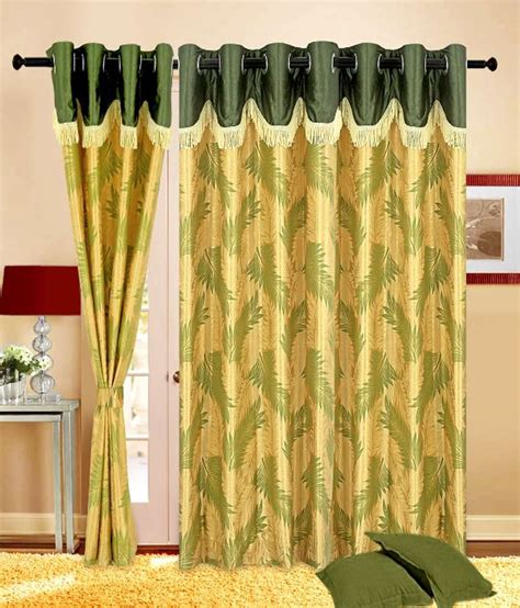 9 foot curtains cortina set of 2 stylish leafy print curtains 9 ft
