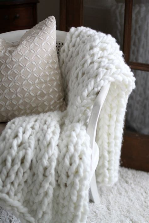 white knit blanket winter white diy projects sand and sisal