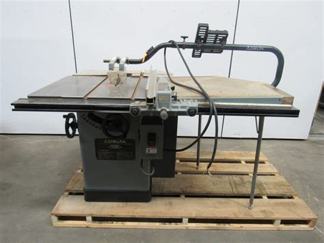 delta 10 quot unisaw tilting arbor table saw 5 hp 3ph extended