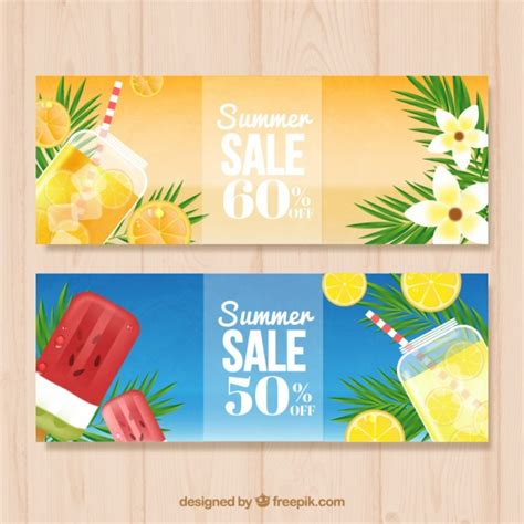Eel Drink Summer Sale by Summer Sales Banners With Drinks And Vector