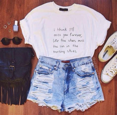 Black Tees Basic Morning Blues t shirt graphic shorts distressed denim shorts