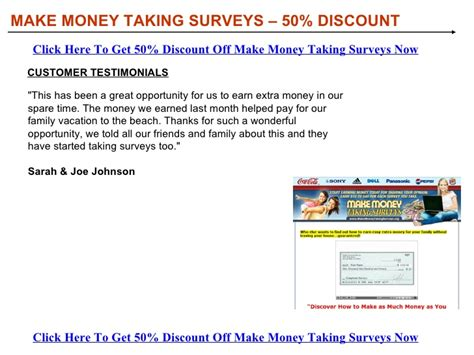 Can You Make Money Taking Surveys - make money taking surveys discount