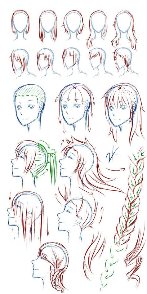 anime hairstyles female tutorial 106 best images about manga hair on pinterest manga