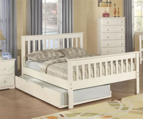 double trundle bed bedroom furniture donco trading monaco full size bed with trundle and double