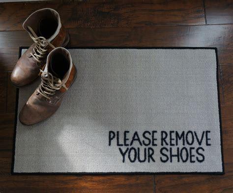 Take Shoes Doormat by 2 X 3 Remove Your Shoes Welcome Doormat Floormatshop