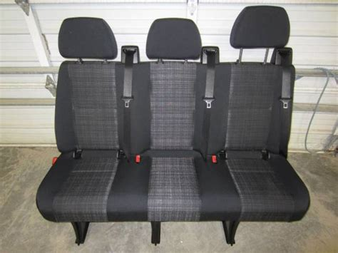 sprinter bench seat 14 16 mercedes benz sprinter van 3 passenger black cloth