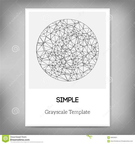 grayscale template vector simple a4 brochure template with abstract circle in