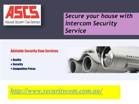 secure your house with intercom security service