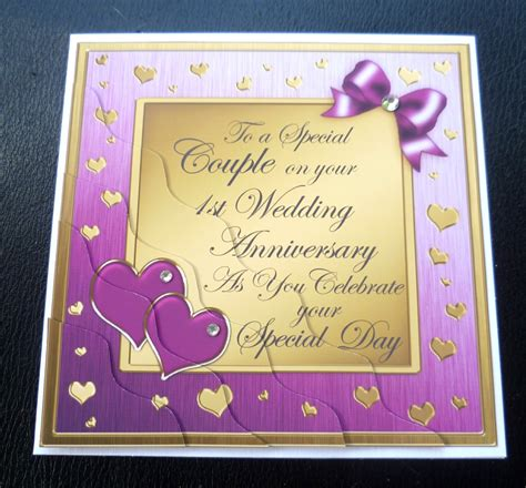 firzara collection firzara collection 1st anniversary sale special couple 1st wedding anniversary card 4 colours ebay