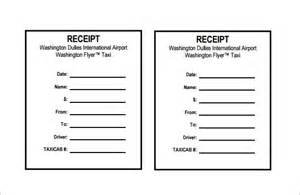blank taxi receipt template blank receipt template 20 free word excel pdf vector