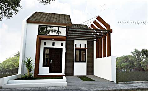 contoh denah desain rumah minimalis type   kamar