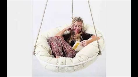 indoor ceiling swing chair papasan sitting or hanging indoor outdoor chair youtube