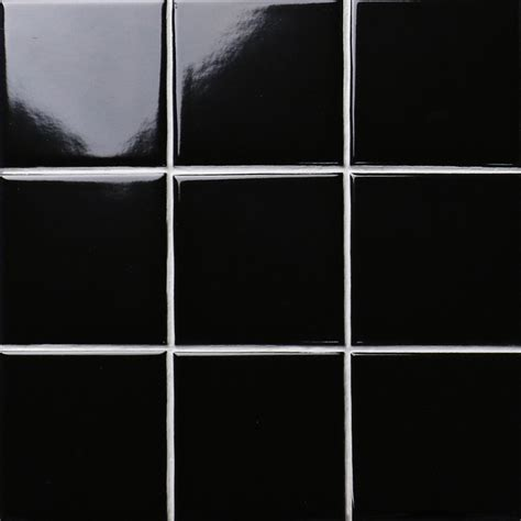 black shiny porcelain tile non slip tile washroom wall