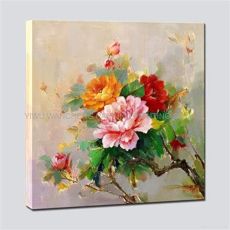 make flower painting flower printing canvas painting wa22031