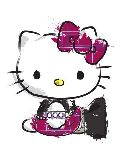 wallpaper hello kitty punk goth hello kitty splatter by edwardkillum on deviantart