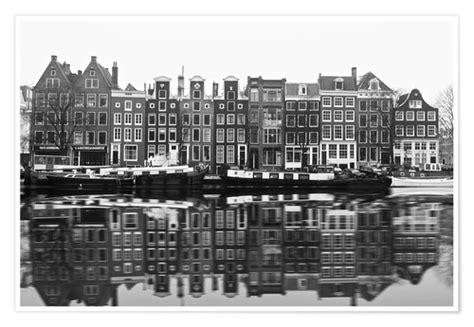 Amsterdam Noir Et Blanc by Posters Affiches De Reflet D Amsterdam En Noir Et Blanc